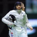 Американская спортсменка по фехтованию на шпагах Ибтихадж Мухаммад