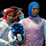 Египетские спортсменки Эман Габер и Рана аль-Хусейни
