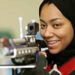 Катарская спортсменка Бахия Мансур аль-Хамд, сореванования по стрельбе