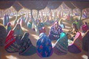 Александр Акилов «Праздник», холст, масло, 2001, Государственная Третьяковская галерея